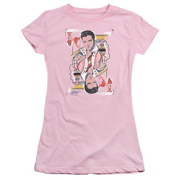 Elvis King Of Hearts Short Sleeve Junior Sheer T-Shirt