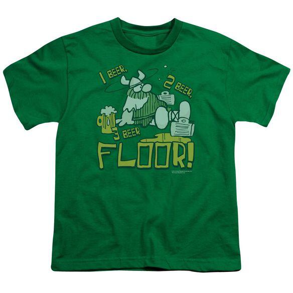 Hagar The Horrible 1 2 3 Floor Short Sleeve Youth Kelly T-Shirt