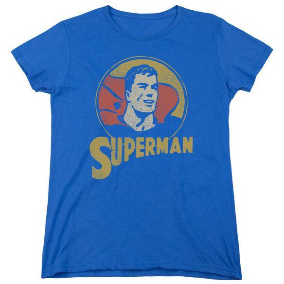 Dc Super Circle Short Sleeve Womens Tee Royal T-Shirt