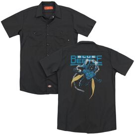 Jla Blue Beetle (Back Print) Adult Work Shirt