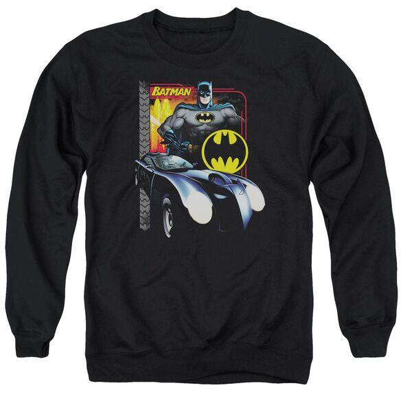 Batman Bat Racing - Adult Crewneck Sweatshirt - Black