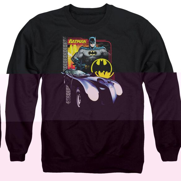 Batman Bat Racing - Adult Crewneck Sweatshirt - Black