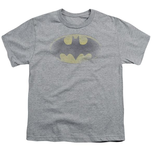 Batman Faded Logo Short Sleeve Youth Athletic T-Shirt