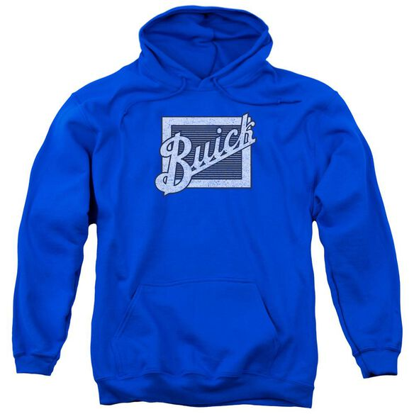 Buick Distressed Emblem Adult Pull Over Hoodie Royal