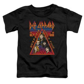 Def Leppard Hysteria Tour Short Sleeve Toddler Tee Black T-Shirt