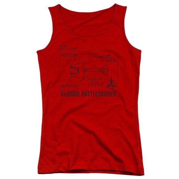 Star Trek D7 Diagram Juniors Tank Top