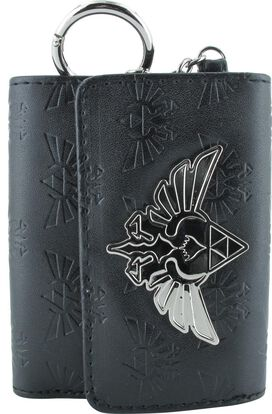 Zelda Logo All Over Print Black Tri Fold Wallet