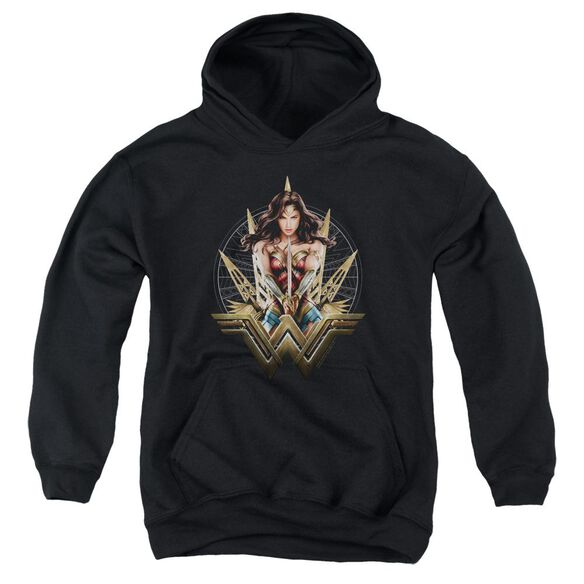 Wonder Woman Movie Wonder Blades Youth Pull Over Hoodie