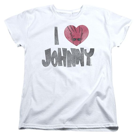 Johnny Bravo I Heart Johnny Short Sleeve Womens Tee T-Shirt
