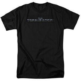 Terminator Logo Short Sleeve Adult Black T-Shirt