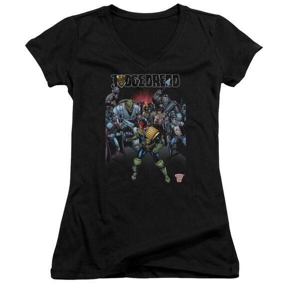 Judge Dredd Behind You Junior V Neck T-Shirt