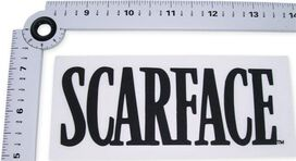 Scarface Name Black Decal