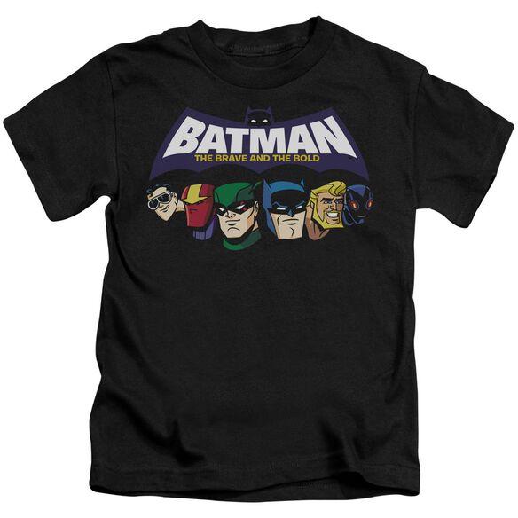 Batman Bb Head Lineup Short Sleeve Juvenile Black Md T-Shirt