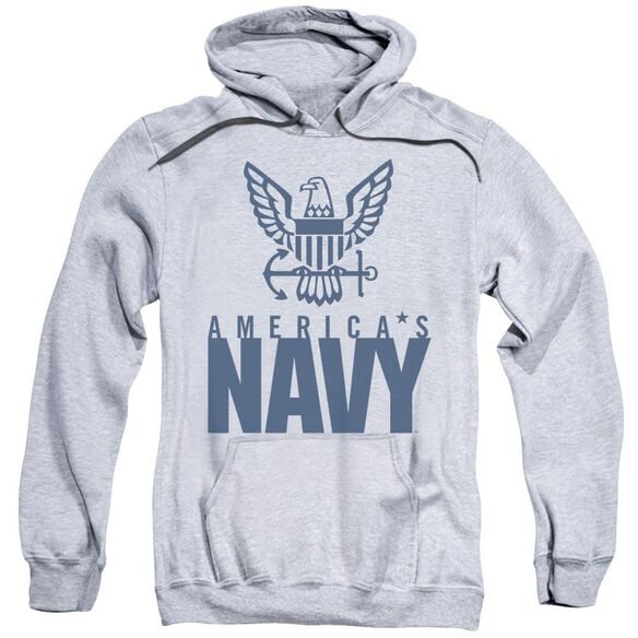 Navy Eagle Logo Adult Pull Over Hoodie Athletic