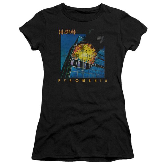 Def Leppard Pyromania Short Sleeve Junior Sheer T-Shirt