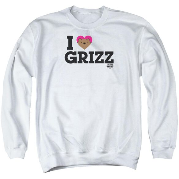 We Bare Bears Heart Grizz Adult Crewneck Sweatshirt