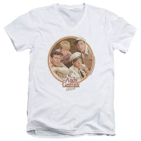 ANDY GRIFFITH BOYS CLUB - S/S ADULT V-NECK - WHITE T-Shirt