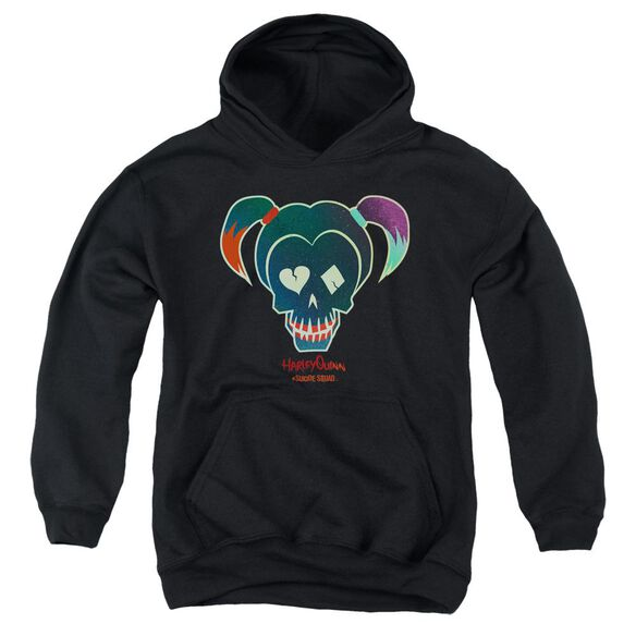 Suicide Squad Harley Skull Youth Pull Over Hoodie
