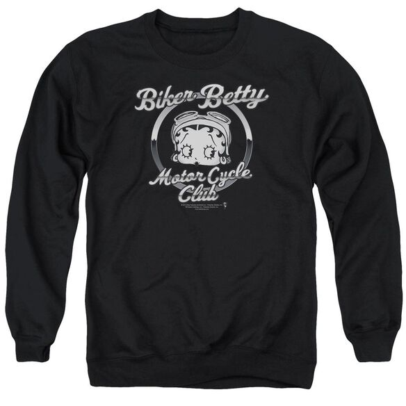 Betty Boop Chromed Logo Adult Crewneck Sweatshirt