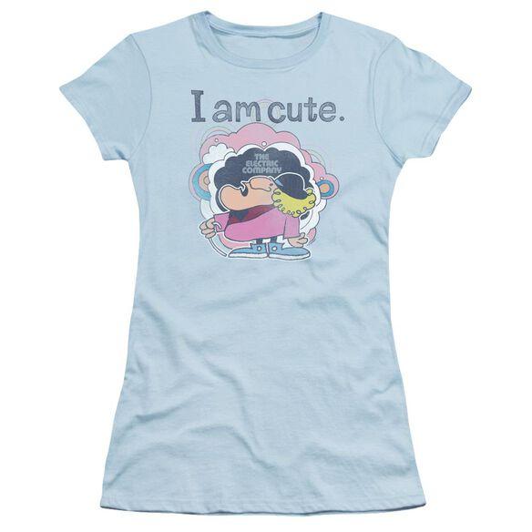 Electric Company I Am Cute Short Sleeve Junior Sheer Light T-Shirt