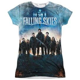 Falling Skies Battle Short Sleeve Junior Poly Crew T-Shirt