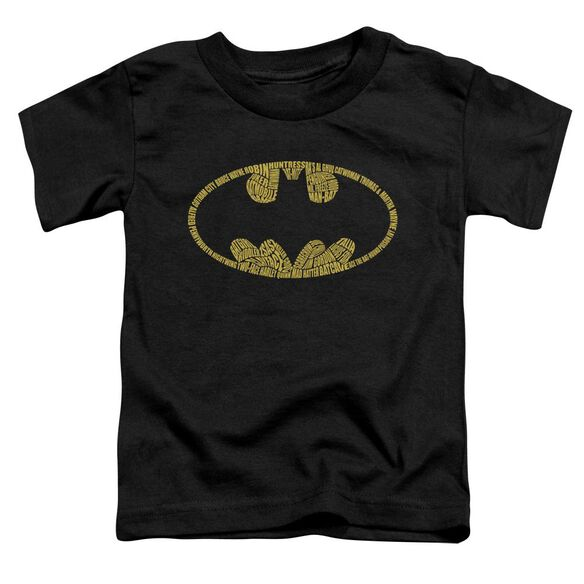 BATMAN WORD LOGO - S/S TODDLER TEE - BLACK - T-Shirt