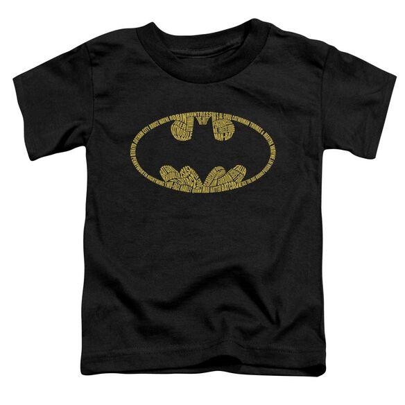 Batman Word Logo Short Sleeve Toddler Tee Black Lg T-Shirt