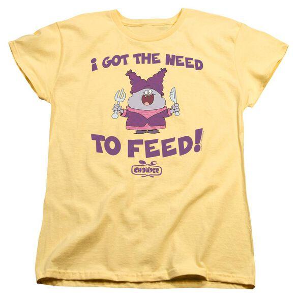 Chowder The Need Short Sleeve Womens Tee Banana T-Shirt