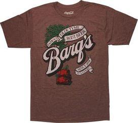 Coca-Cola Barqs Root Beer Brown T-Shirt Sheer