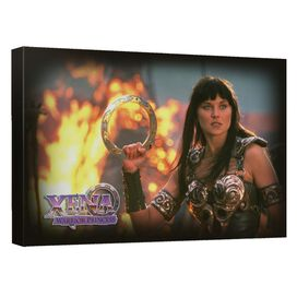 Xena Chakram Canvas Wall Art With Back Board