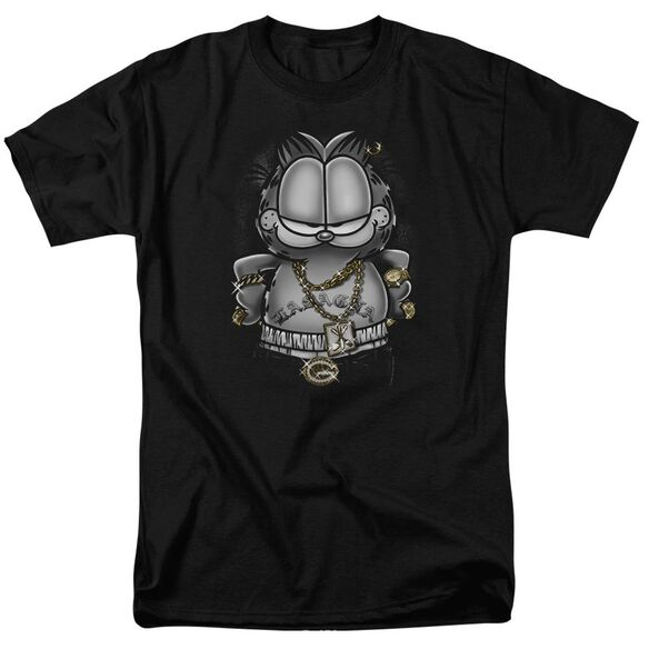 GARFIELD LASAGNA FOR LIFE-S/S ADULT 18/1 - BLACK T-Shirt