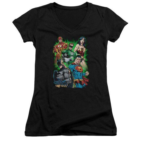 Jla Will Power Junior V Neck T-Shirt