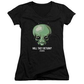 Ancient Aliens Will They Return Junior V Neck T-Shirt
