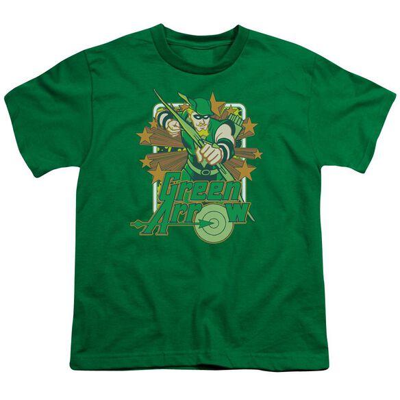 Dc Arrow Stars Short Sleeve Youth Kelly T-Shirt