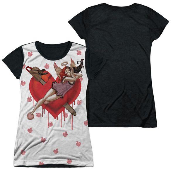 Batman Vroom Short Sleeve Junior Poly Black Back T-Shirt