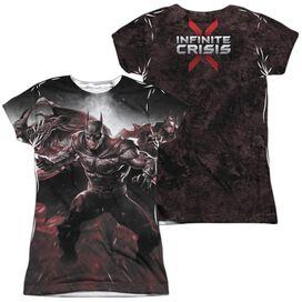 Infinite Crisis Ic Batman (Front Back Print) Short Sleeve Junior Poly Crew T-Shirt