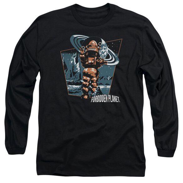 Forbidden Planet Robby Walks Long Sleeve Adult T-Shirt
