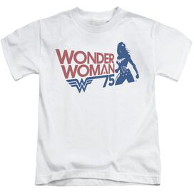 Wonder Woman Ww75 Silhouette Short Sleeve Juvenile T-Shirt