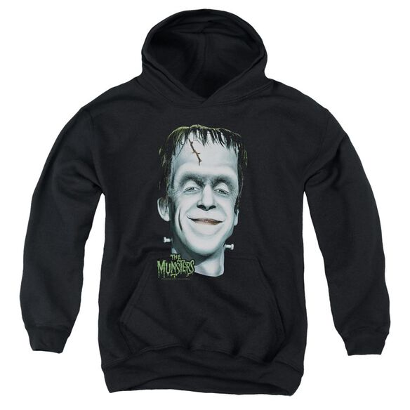 The Munsters Hermans Head Youth Pull Over Hoodie