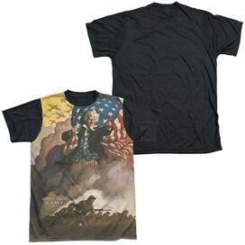 Army Vintage Poster Short Sleeve Adult Front Black Back T-Shirt