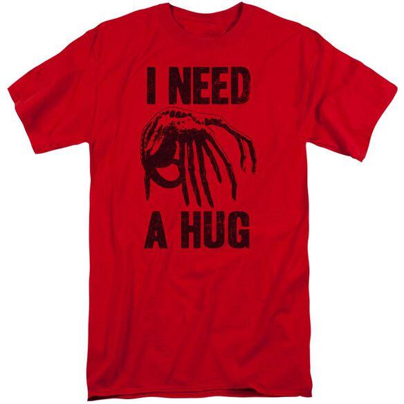 Alien Need A Hug Short Sleeve Adult Tall T-Shirt