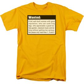 Wanted Short Sleeve Adult T-Shirt