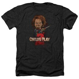 Childs Play 2 Heres Chucky - Adult Heather - Black