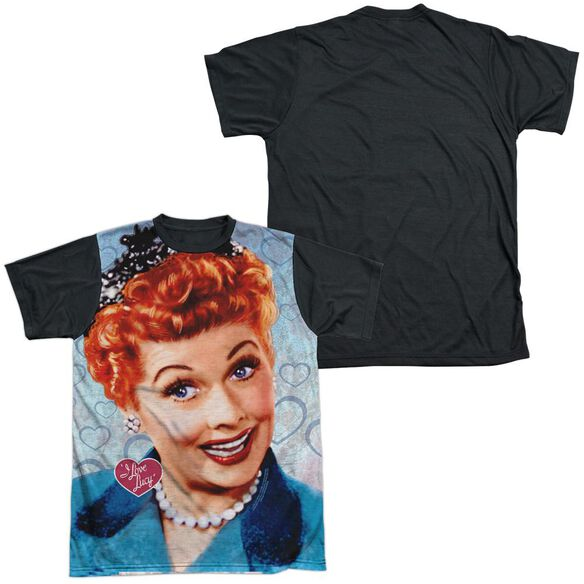 I Love Lucy Smile Short Sleeve Adult Front Black Back T-Shirt