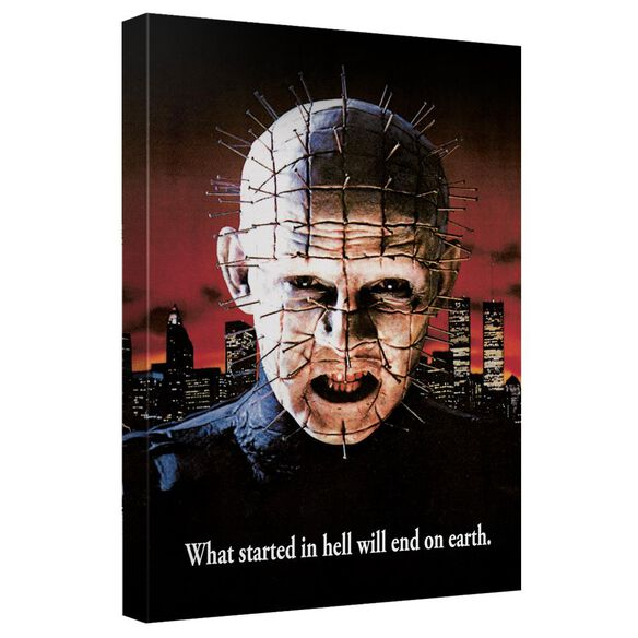 Hellraiser Pinhead Poster Canvas Wall Art With Back Board
