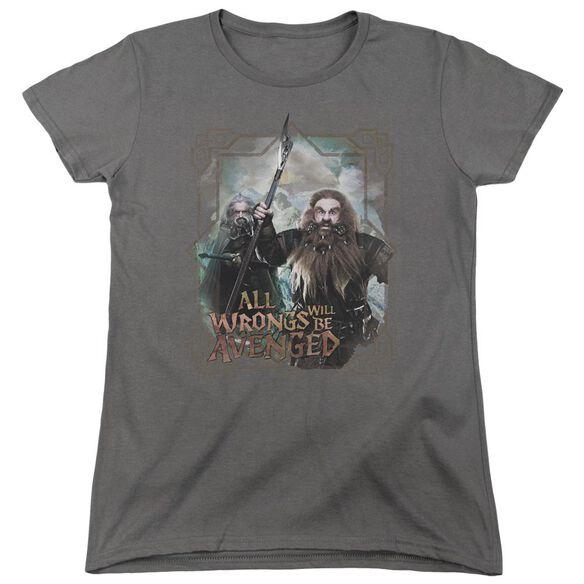 The Hobbit Wrongs Avenged Short Sleeve Womens Tee T-Shirt