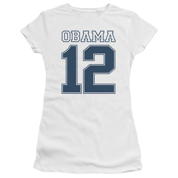 Obama 12 Short Sleeve Junior Sheer T-Shirt