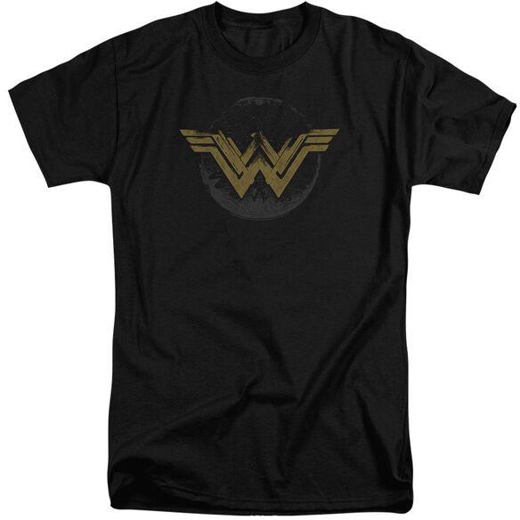 Wonder Woman Movie Distressed Logo Short Sleeve Adult Tall T-Shirt