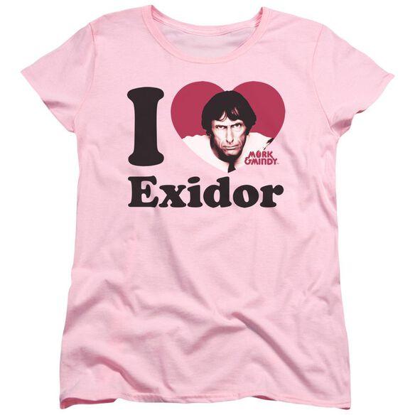 Mork & Mindy I Heart Exidor Short Sleeve Women's Tee T-Shirt