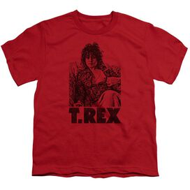 T Rex Lounging Short Sleeve Youth T-Shirt